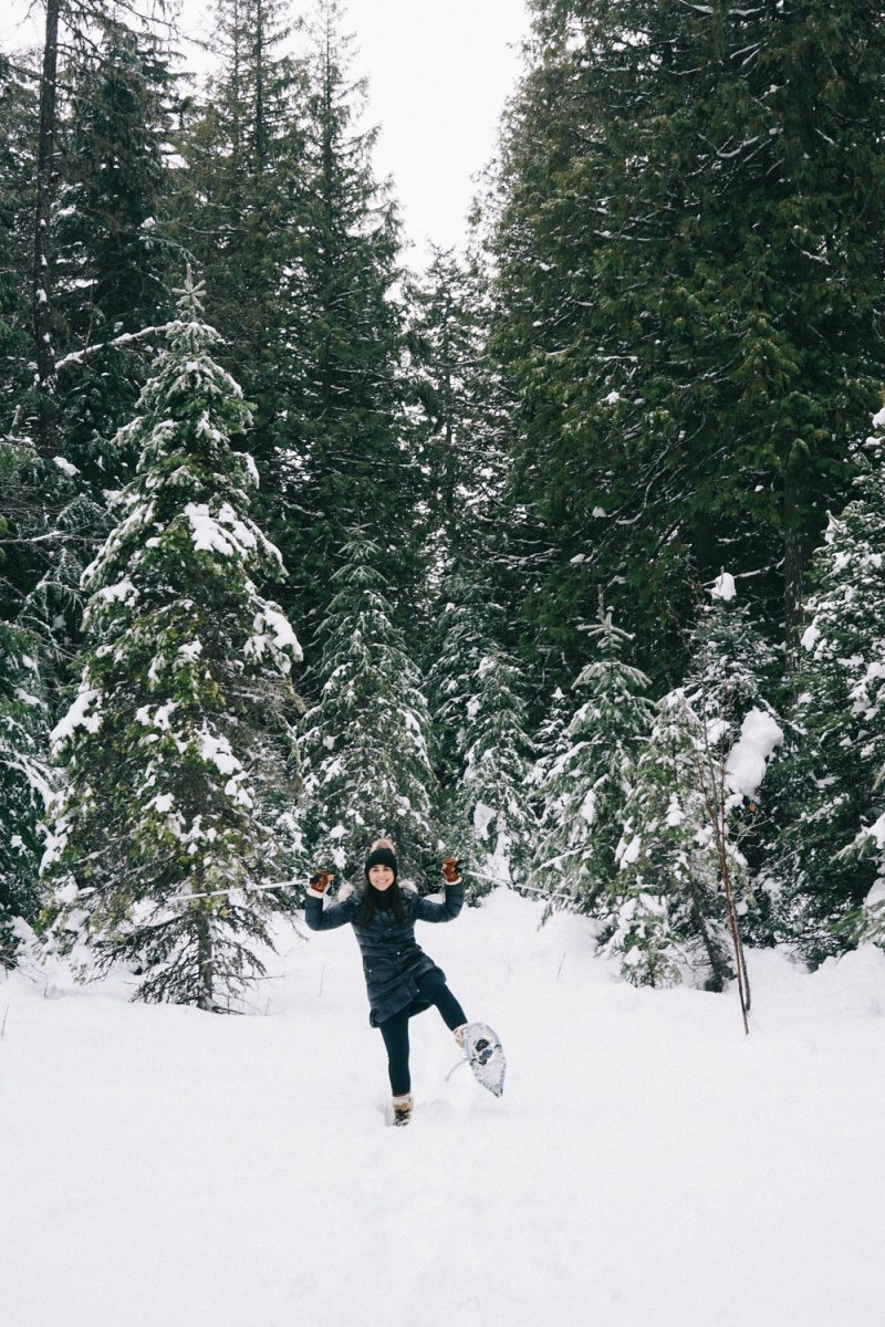 Snowshoeing in Glacier National Park
