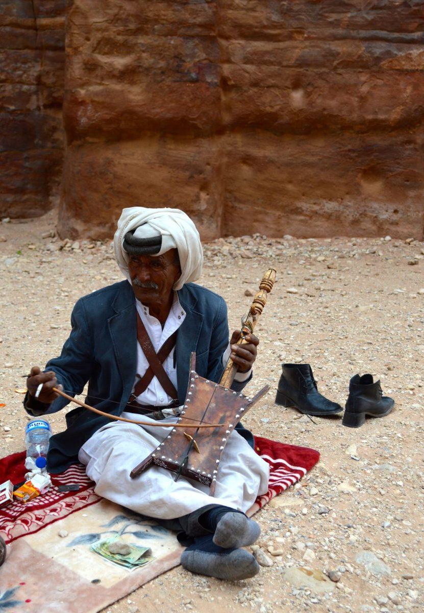 A Bedouin playing the Radaba in Petra