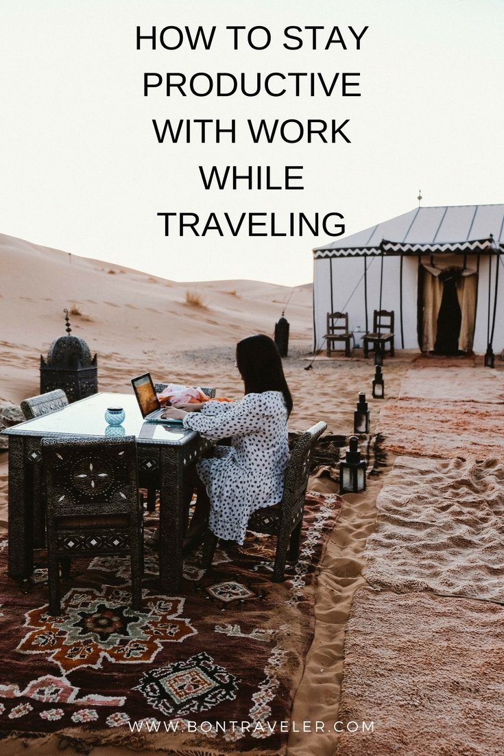 How to Stay Productive With Work While Traveling