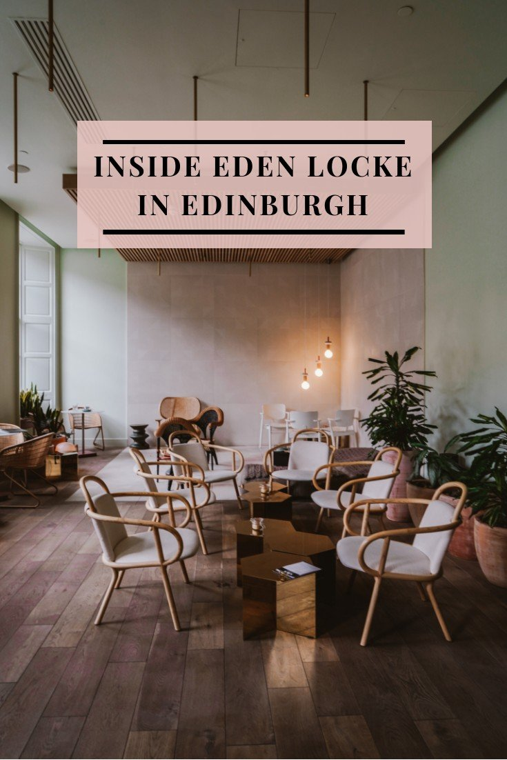 Locke Hotels launched the beloved Eden Locke in Edinburgh, they nailed one thing perfectly. A beautiful space that is not only generous to the eyes but equally functional.Their cotton candy color scheme matched with textures like cement and clay pots blends seamlessly together. This one part apartment and hotel boast only suite-rooms right in the heart of the New Town. Their address on George Street is the ultimate place to call home and when designers Grzywinski + Pons renovated this Georgian Mansion, it was nothing less than perfection.Each of the 72 studio rooms has been carefully appointed with the standard amenities of an apartment. Kitchens with pops of color are designed so that you can cook your own meals and create cocktails right in your own room. Their signature touch of L-shaped sofas makes for the perfect pair in the rooms' living space, where you can lounge or get some work done. Some of the rooms have a city view so if you're a guest who loves a look into the city, be sure to request one.Downstairs in the mezzanine at Eden Locke is their coffee bar that transforms into a wine and cocktail bar at night. Locals pour in during the day to work remotely and at night it becomes a buzzing social scene. The space is filled with a mix of different seating options that all work well together. Their vision of this older building has been transformed into one of the most beautiful spaces in Edinburgh.For booking Eden Locke Edinburgh, head here to check availability for a room. Locke Hotels have other hotels in cities like London and Manchester.Beautiful Spaces: Inside Eden Locke in Edinburgh
