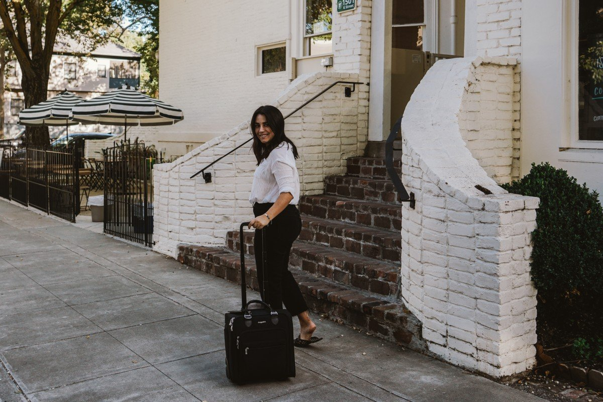 Getaway with Baggallini's 2-Wheel Underseat Carry-On