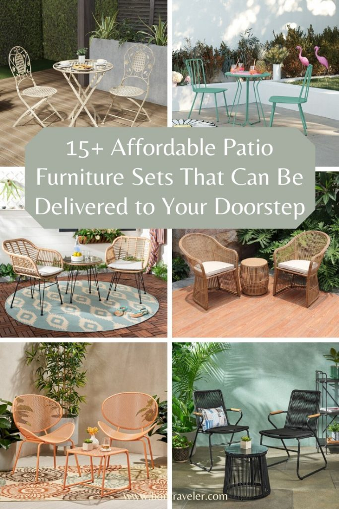 15+ Affordable Patio Furniture Sets That Can Be Delivered to Your Doorstep