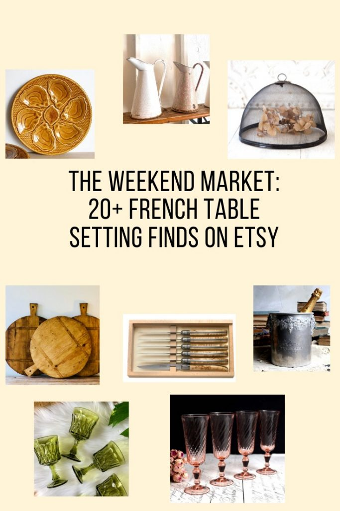 The Weekend Market: 20+ Summer French Table Setting Finds on Etsy