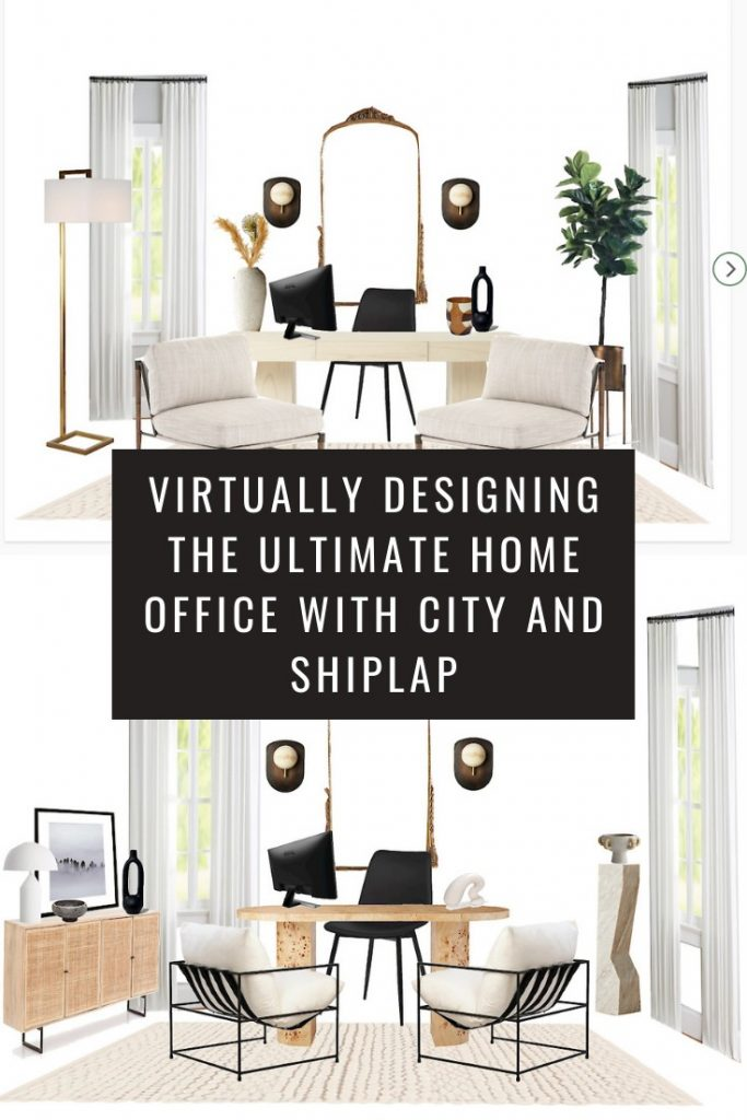 Virtually Designing The Ultimate Home Office with City and Shiplap