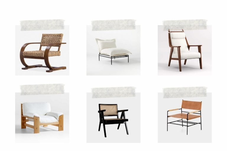 Neutral Statement Chairs For a Living Room
